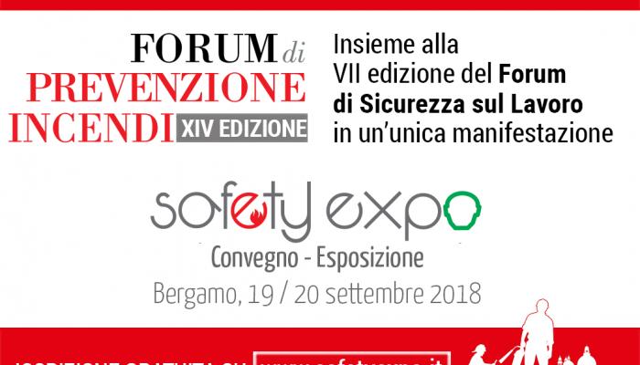 SAFETY EXPO 2018 – Bergamo 19-20 settembre 2018