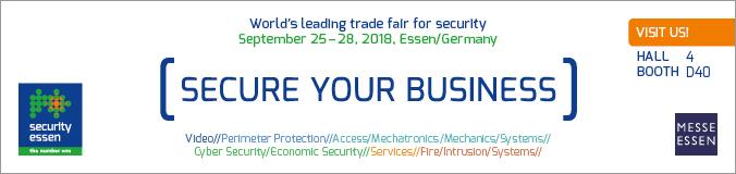 SECURITY – Essen (D) 25-28 Settembre 2018