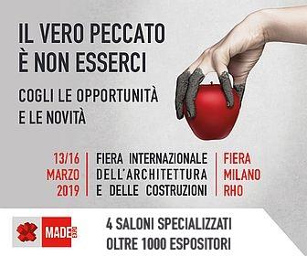 MADE expo – Rho 13-16 marzo 2019