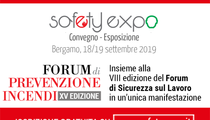 SAFETY EXPO 2019 – Bergamo 18-19 settembre 2019