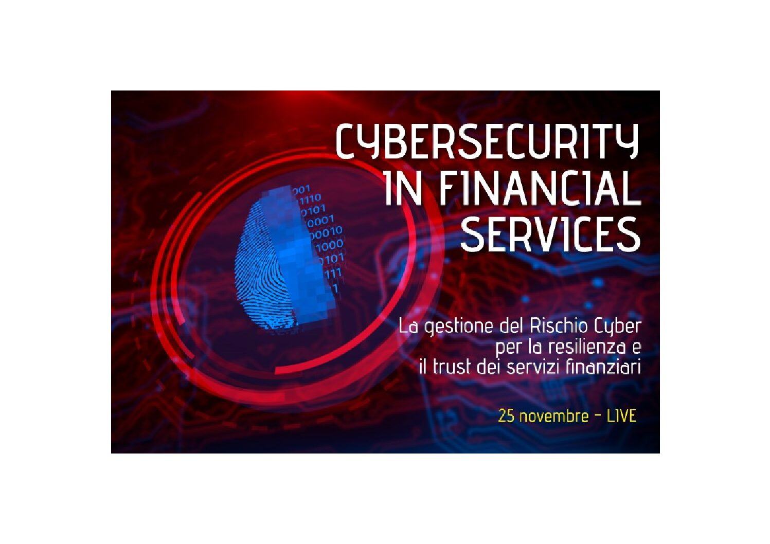 """ CYBERSECURITY IN FINANCIAL SERVICES "" – 25 NOVEMBRE 2020"